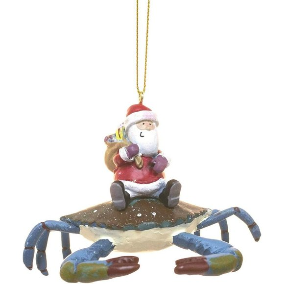 Cape Shore Santa Riding Maryland Blue Crab Christm